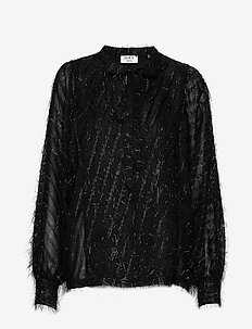Day Deep - long sleeved blouses - black
