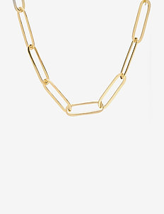 Day Chain Necklace - statement necklaces - rich gold