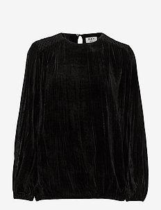 Day Feeling - long sleeved blouses - black