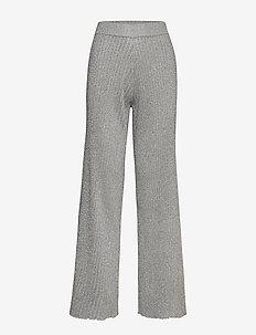 Day Admire - bukser med brede ben - silver