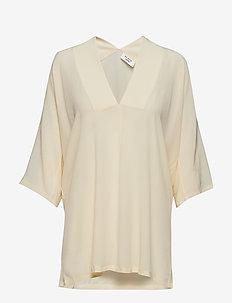 Day Fan - short-sleeved blouses - butter