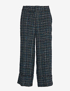 Day Kare - bukser med brede ben - envy green