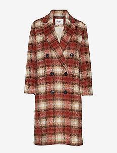 Day Komsu - manteaux en laine - rossetto