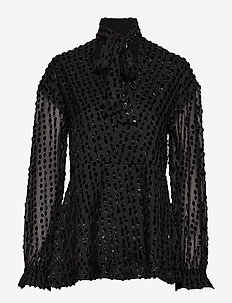 Day Aperitivo - long sleeved blouses - black