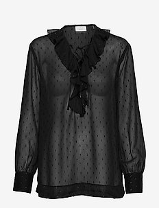 Day Liza - long sleeved blouses - black