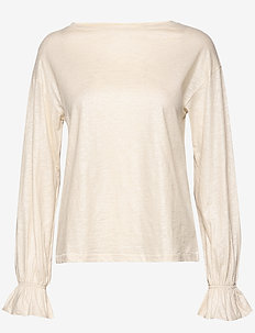 Day Again - long sleeved blouses - ivory