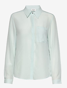 Day Fan - long sleeved blouses - sapphire