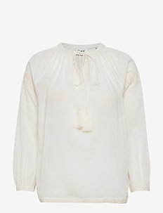 DAY Espresso - long sleeved blouses - white fog