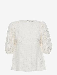 Day Casa - bluzki z krótkim rękawem - white fog