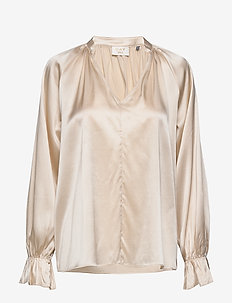 Day Shine - long sleeved blouses - smoke