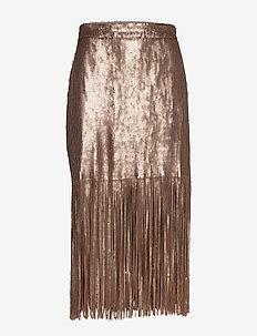Day Glitter - midi skirts - smoke