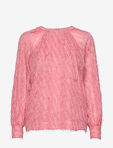 Day Palm - long sleeved blouses - peonia
