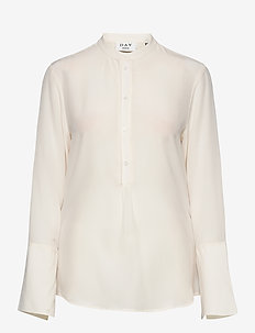 Day Fan - long sleeved blouses - ivory shade