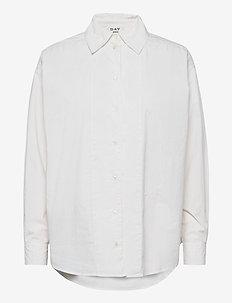 DAY Polite - langærmede skjorter - white fog