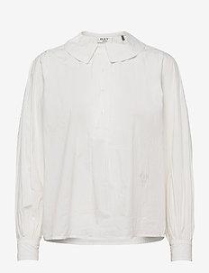 DAY Polite - blouses med lange mouwen - white fog