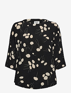 DAY Heart - short-sleeved blouses - black