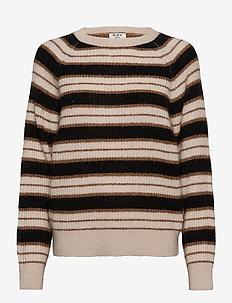 DAY Essence Striped - trøjer - caramello