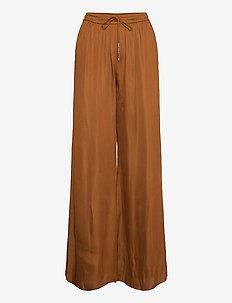 Day Town - bukser med brede ben - caramello