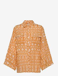 DAY Radiate - långärmade skjortor - apricot