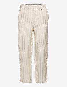 Day Lino - bukser med brede ben - ivory