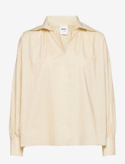 Dafney - Cotton Chintz - chemises à manches longues - brown rice