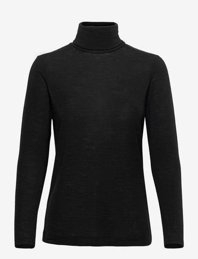 Lin - Light Wool - hauts à manches longues - black