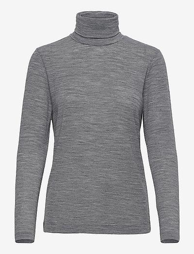 Lin - Light Wool - hauts à manches longues - dark grey melange