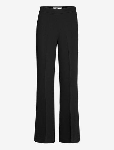 Long Lean - Classic Gabardine - bukser med brede ben - black