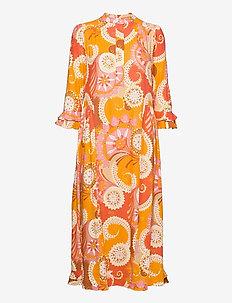 ROSANNA (V) - alledaagse jurken - khanga orange
