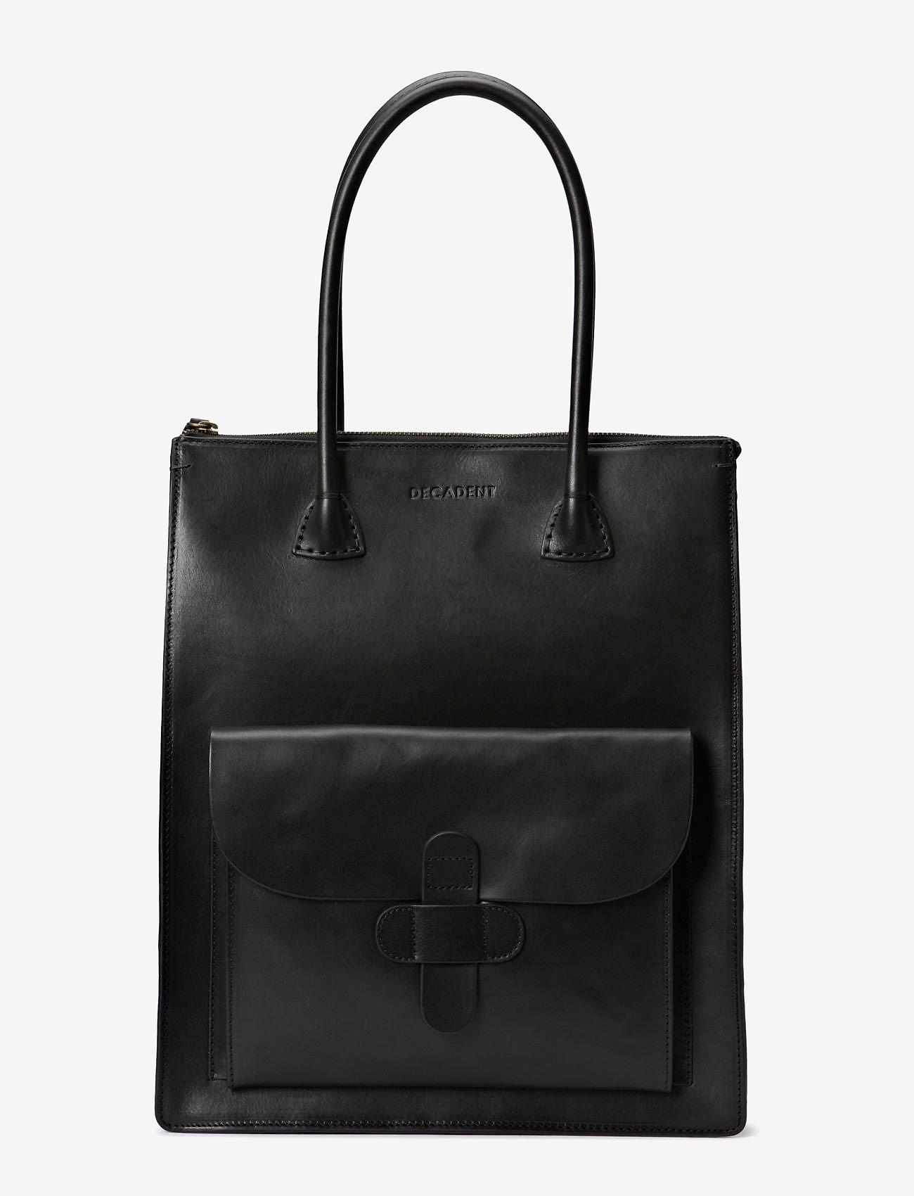 Decadent - Working Bag One Pocket - shoppers - black - 0