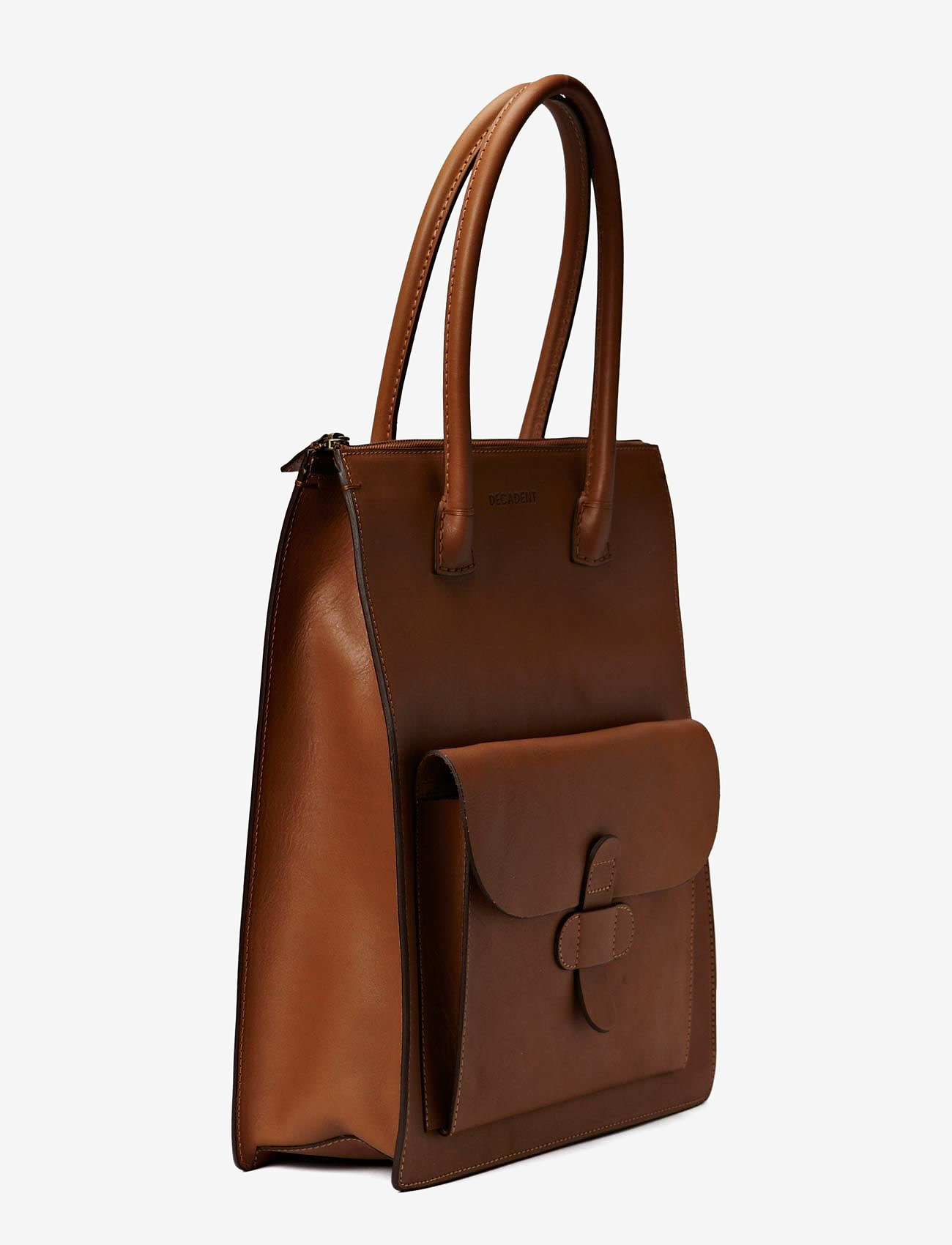 Decadent - Working Bag One Pocket - shoppers - cognac - 1