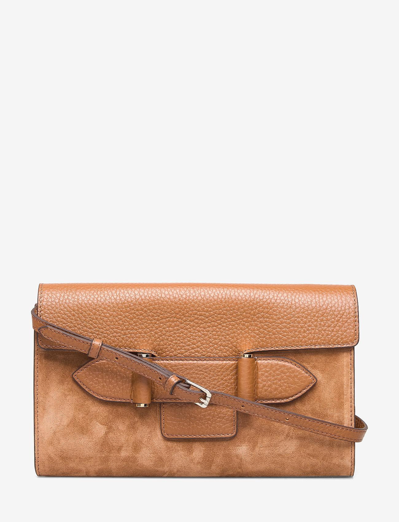 Decadent - Janice clutch with strap - olkalaukut - suede cognac