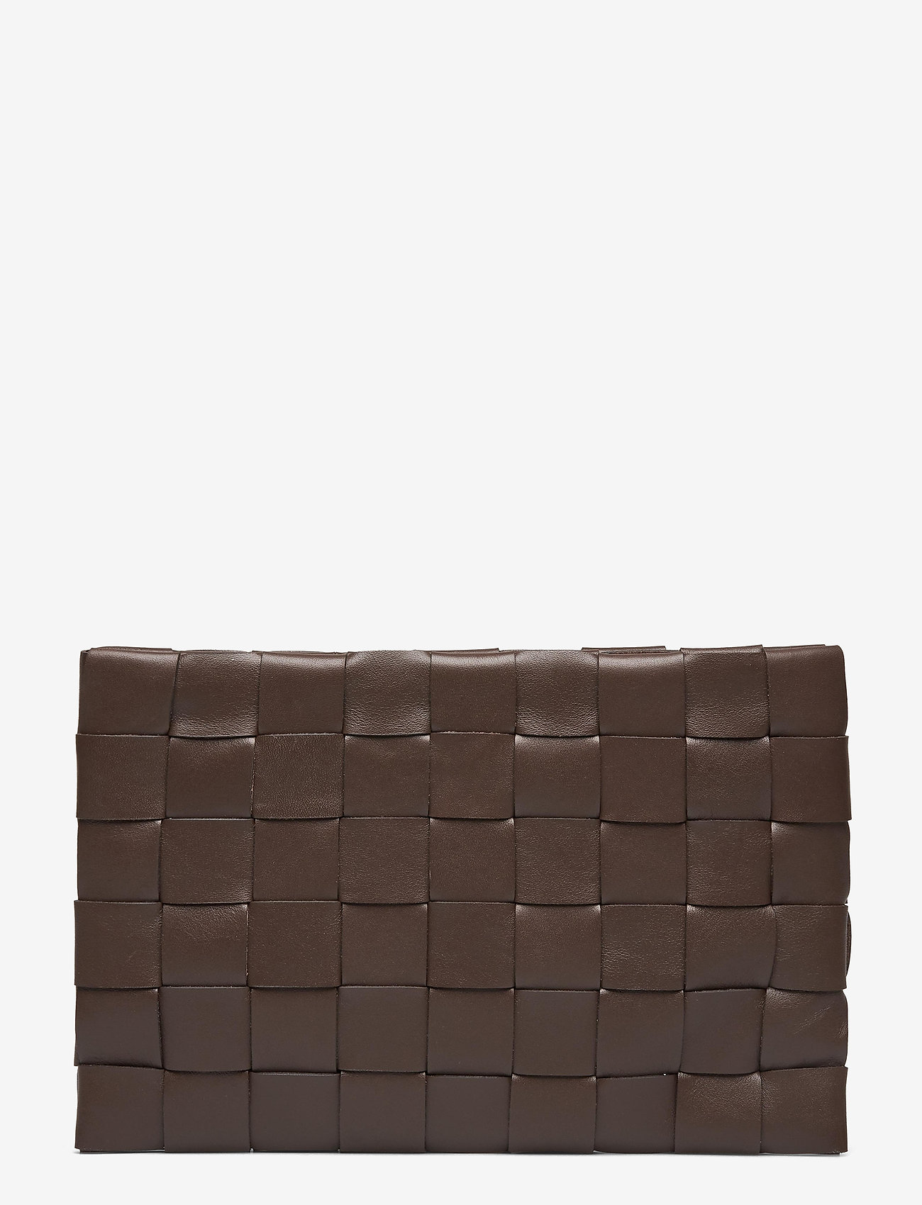 Decadent - Dolores woven clutch - clutches - mocha - 1