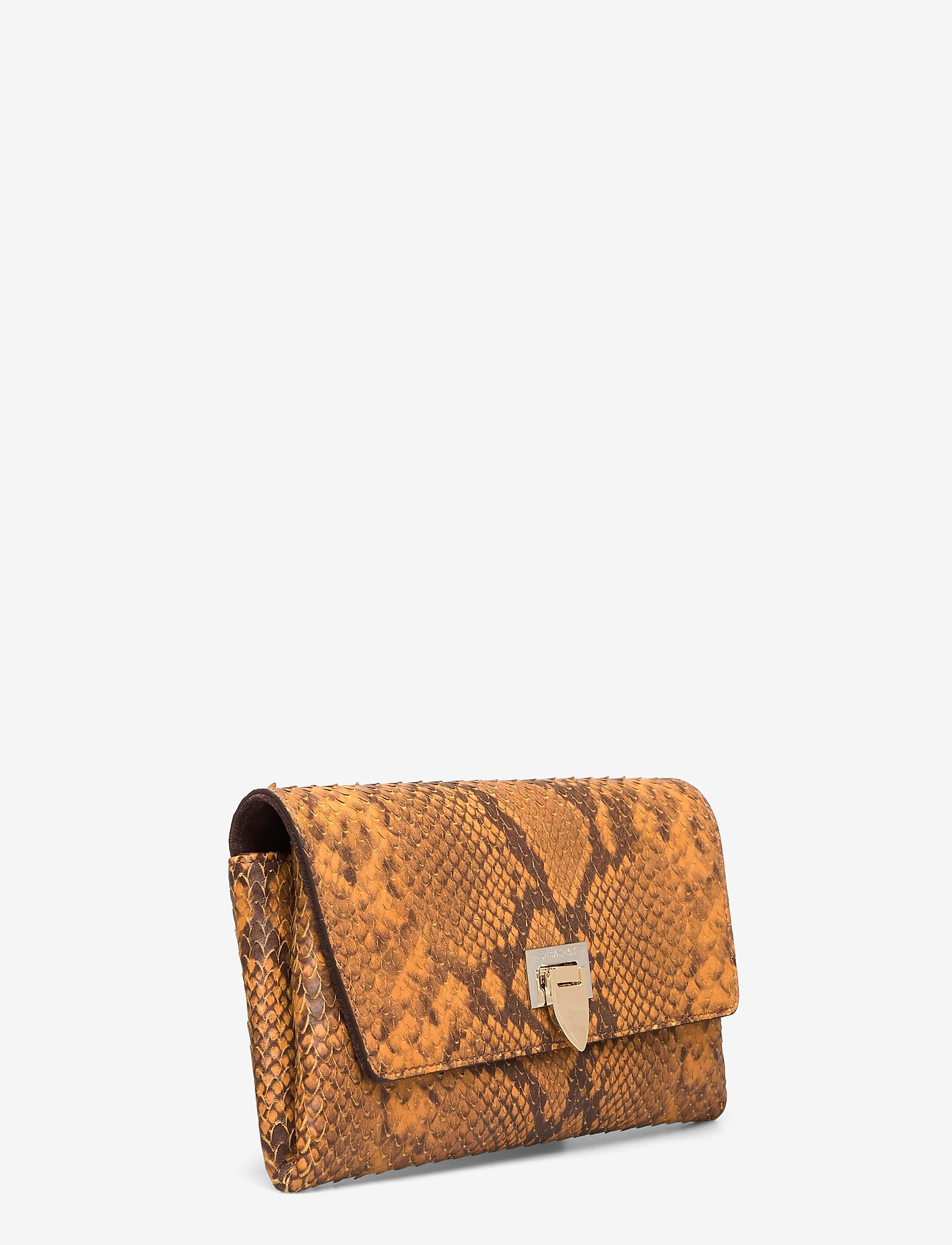 Decadent - Nora small clutch w/buckle - clutches - snake golden yellow - 1