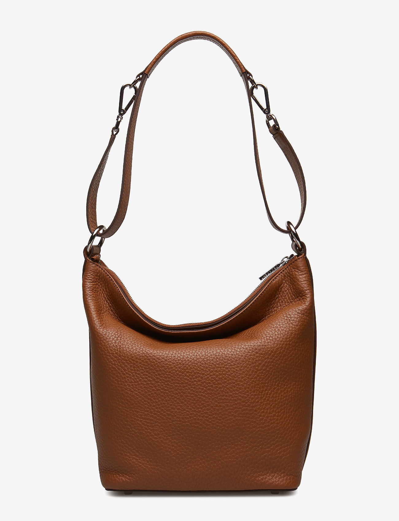 Decadent Small Shoulder Bag With Two Way Strap - Bucket-väskor Cognac