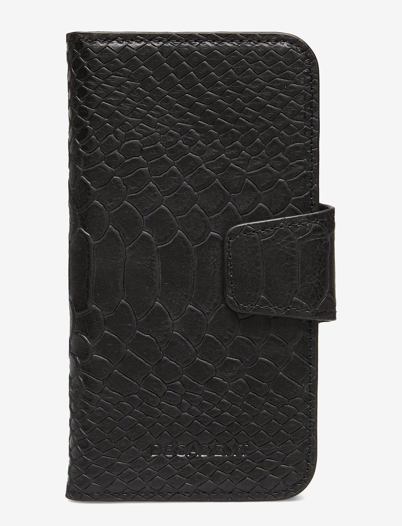 Decadent - Lea iPhone X/Xs flip cover - mobile accessories - anaconda black - 0