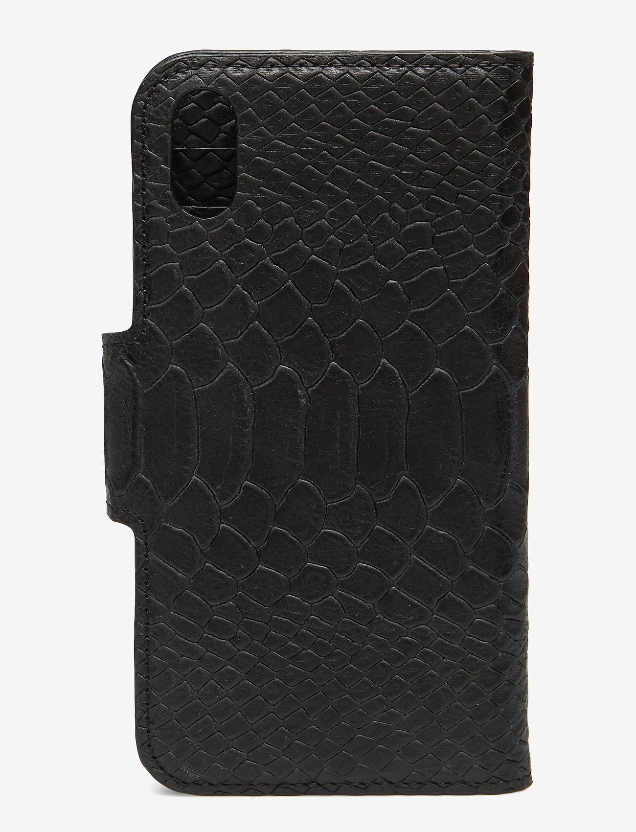 Decadent - Lea iPhone X/Xs flip cover - mobile accessories - anaconda black - 1
