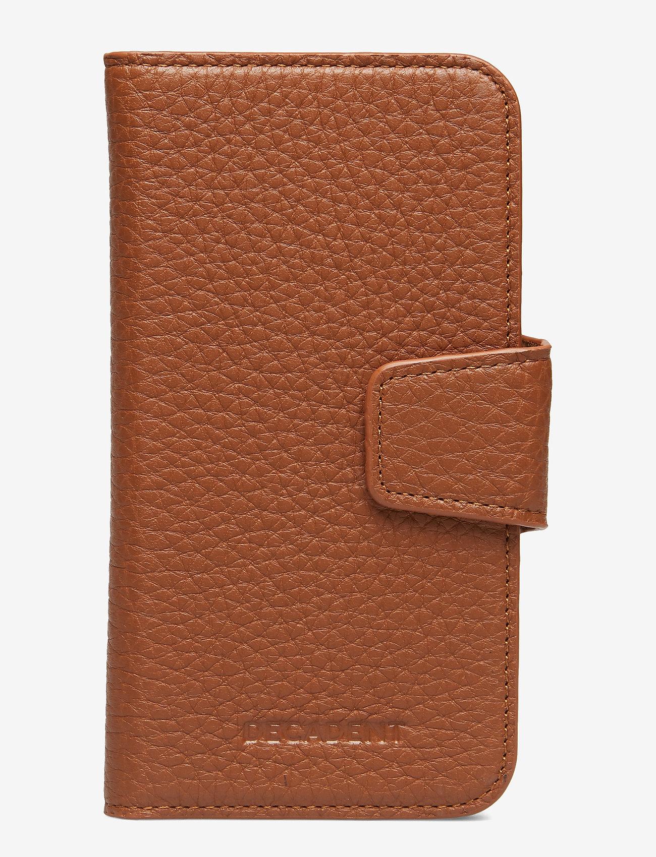 Decadent - Lea iPhone X/Xs flip cover - puhelinkotelo - cognac - 0