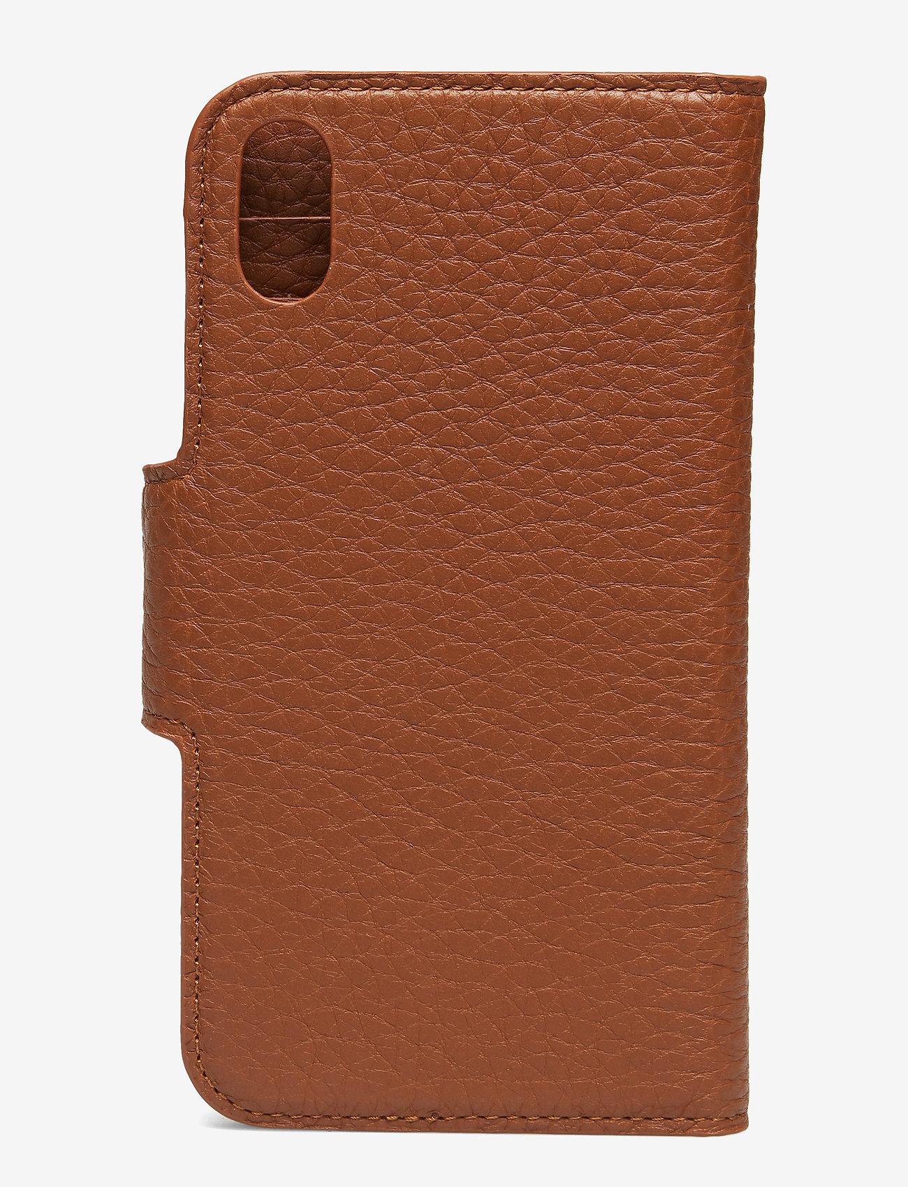 Decadent - Lea iPhone X/Xs flip cover - puhelinkotelo - cognac - 1