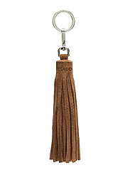 Tassel with key-ring - SUEDE LATTE