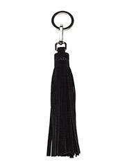 Tassel with key-ring - SUEDE BLACK