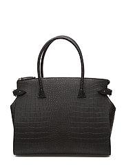 Meryl Big shopper - ALLIGATOR BLACK