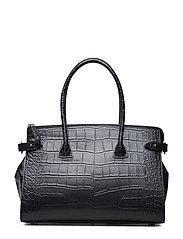Small shopper - CROCO BLACK