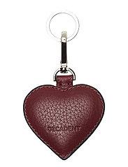 Heart keyring - OXBLOOD