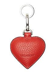 Heart keyring - RED