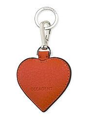 Heart keyring - TOMATO