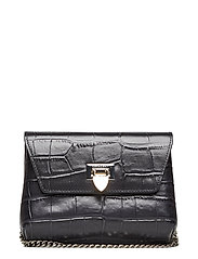 Cleva small pouch - CROCO BLACK