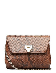 Cleva small pouch - SNAKE COGNAC
