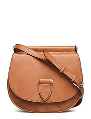 Brenna satchel bag - COGNAC
