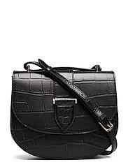 Kim satchel bag - CROCO BLACK